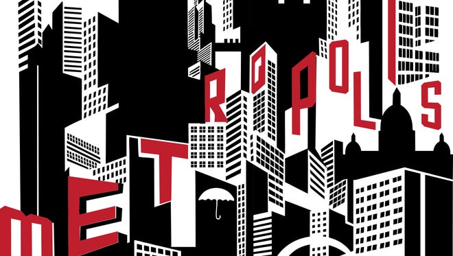 "The new Des Moines Film Society designed a poster for its first screening, of ""Metropolis,"" on Sept. 17 at Hoyt Sherman Place."