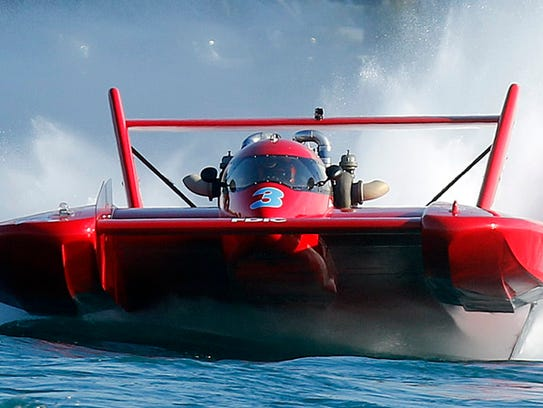 Local Gold Cup racer Jimmy King's boat is stranded in Wyoming