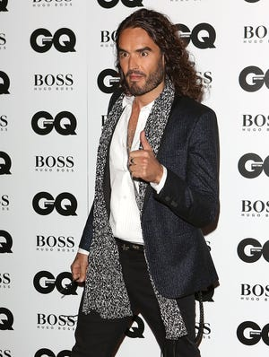 Russell Brand attends the GQ Men of the Year awards in London on Sept. 3.