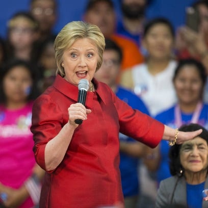 Democratic presidential candidate Hillary Clinton needs
