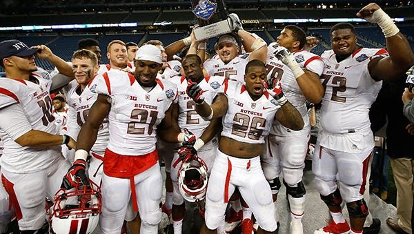 Rutgers won the first Quick Lane Bowl 41-20 over North Carolina.