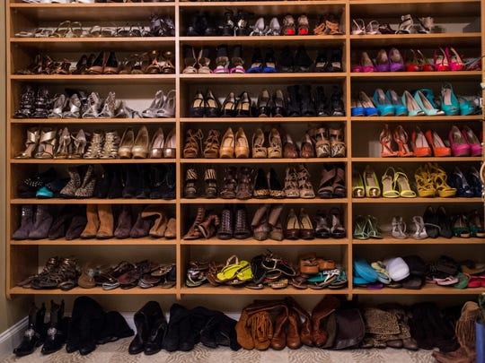 The closet of Sharon Moss is pictured in Lafayette, La., Tuesday, Nov. 10, 2015.