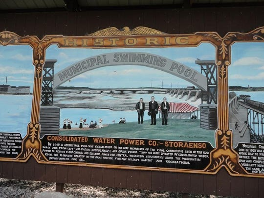 A mural highlights the history of one of the first