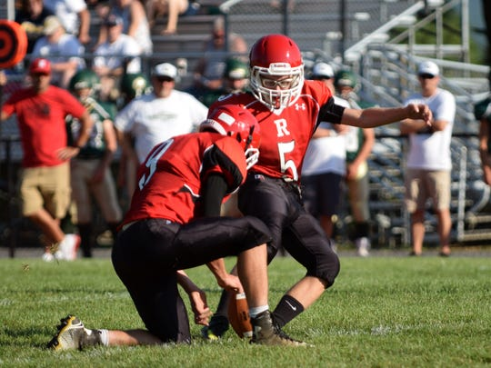 Peyton Skillman has received a lot of postseason honors as Riverheads' kicker, including first team all-state honors last season.