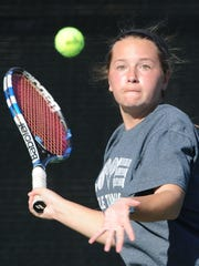 Abilene High's Lauren Schaeffer prepares to return