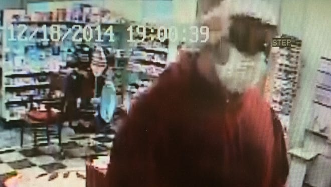 Burlington police are seeking this suspect after the robbery of Lakeside Pharmacy Thursday evening.
