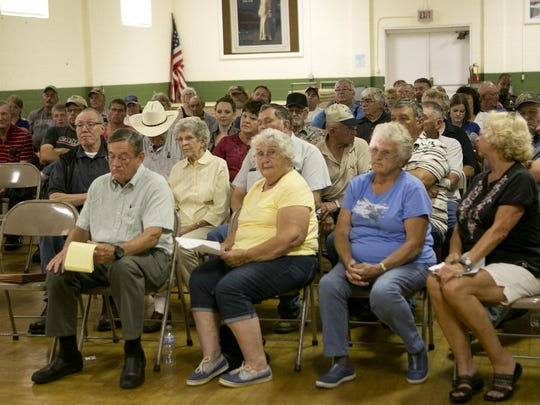 Central Wisconsin residents during the listening session at St. MichaelÕs Church Hall in Junction City, Thursday, Aug. 13, 2015.