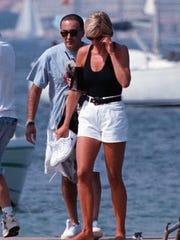 Princess Diana with Dodi Al-Fayed, Aug. 22, 1997, on