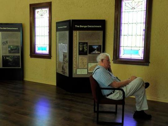 Bob Hayes enjoys his time in the Trail of Tears museum Friday Sept. 5, 2014, in Pulaski, Tenn.