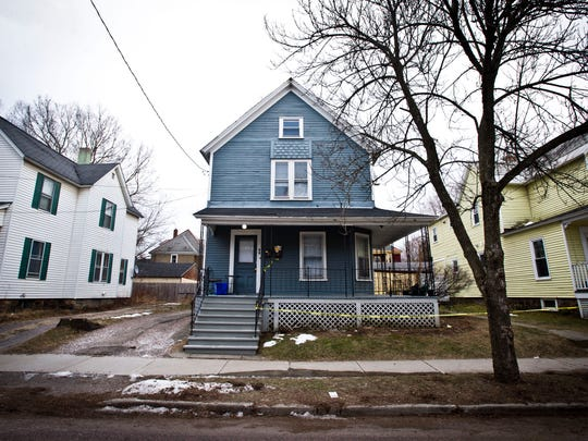 The home of Kevin DeOliveira, where he was found dead with a gunshot wound, at 58 Greene St.