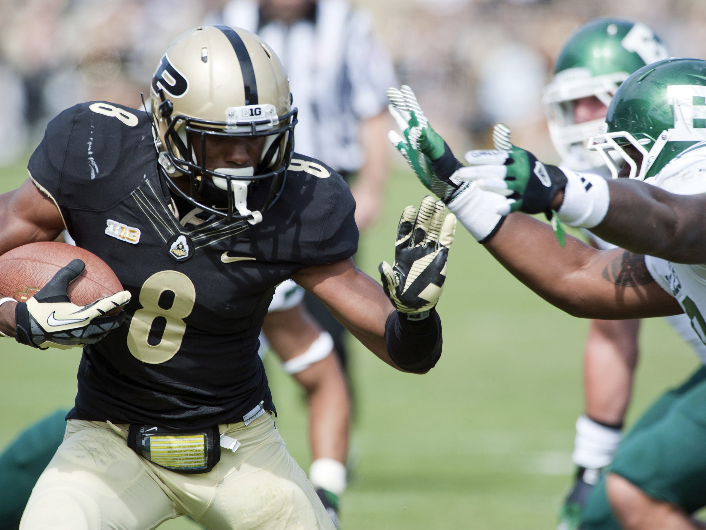 Purdue's Raheem Mostert carries the ball for a touchdown