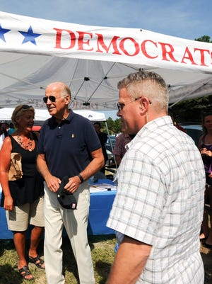 Vice President Joe Biden came to the Sussex County, Del., Democratic Party's annual Jamboree on Aug. 29, 2015, at Cape Henlopen State Park.