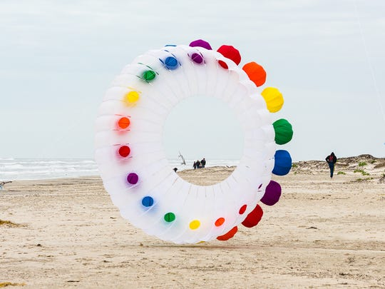 The sky will fill with kites Saturday, Feb. 18, 2017, at the Padre Island National Seashore. The park service has hosted Kite Day for the past five years.
