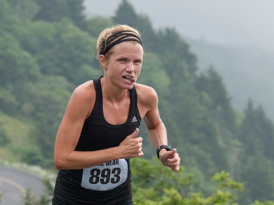 Anne Wheatly, 33, of Asheville, took third place in