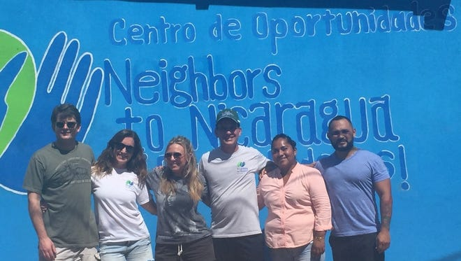 In Nicaragua on Thursday ahead of the opening of Centro de Oportunidad (left to right): Michael Lucey, Francesca Vavala, Alison Warhol, Chuck Selvaggio, head teacher Darling Azucena Ruiz Hernandez and Neighbors to Nicaragua Country Director Maycól Garcia. Lucey, Vavala, Warhol and Selvaggio are all board members of Neighbors to Nicaragua.