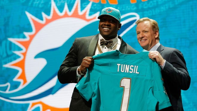 The Dolphins took Laremy Tunsil with the No. 31 pick.