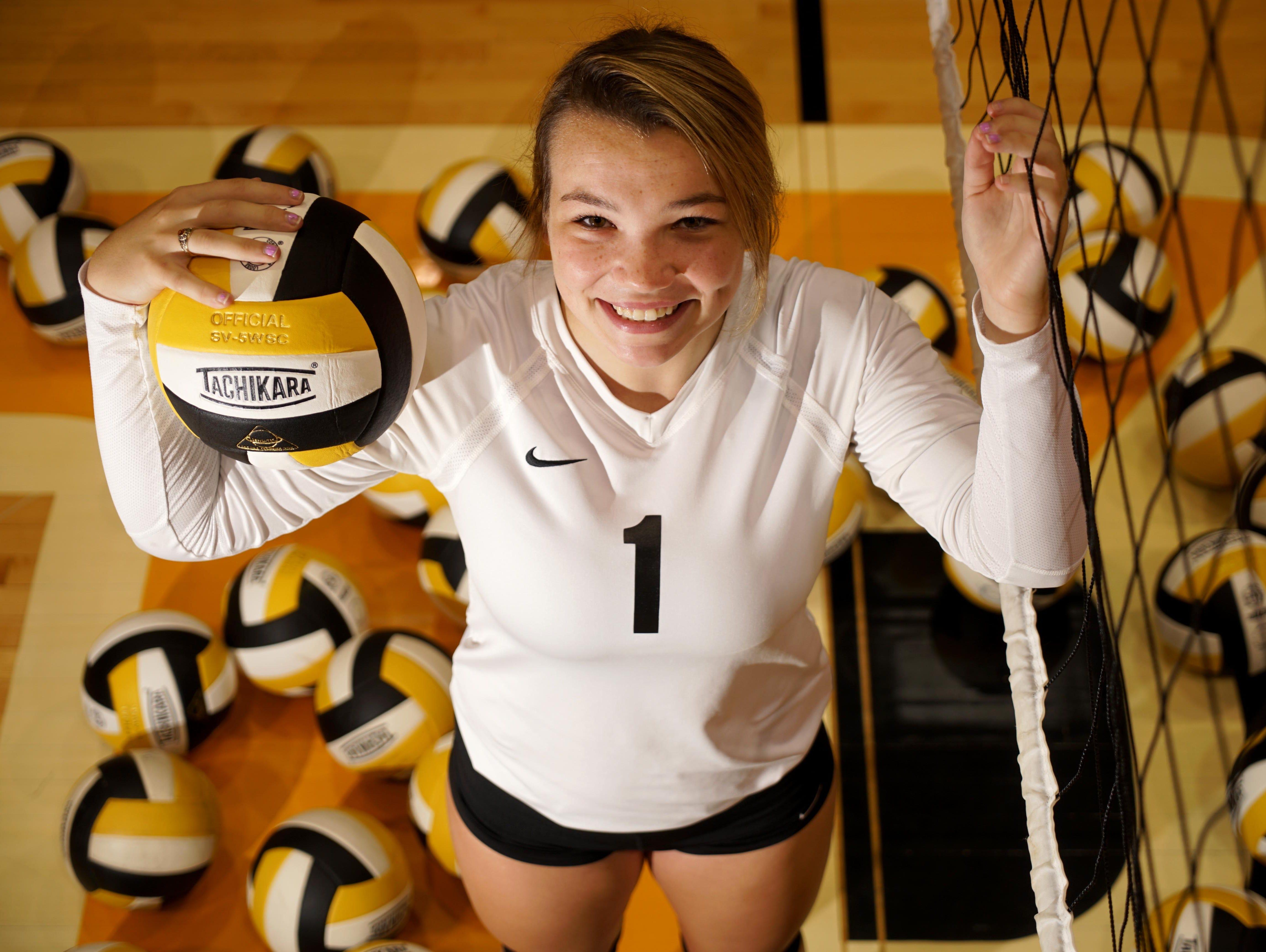 Senior libero Madelyn Judge anchors the defense for the third-ranked Padua volleyball team.