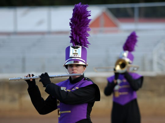 The Millersport High School marching band performed