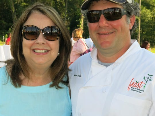 Shreveport Green chief Donna Curtis and Chef Jason Brady at Feast!