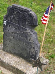 The gravestone that belongs to Samuel Osbun at Wolford Cemetery. Osbun was a veteran of the Revolutionary War and was one of the first settlers in Richland County.