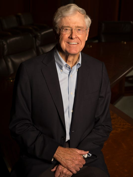 Charles koch has no plans to back a candidate in for Koch 6 backjournal