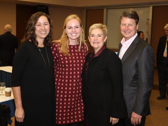 USC Scholars Danielle Balderas and Anna Blue with Bryn & Richard DeBeikes