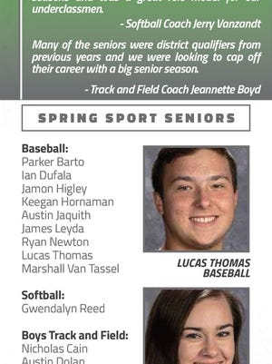 Next in a series of tributes to Erie County spring sports seniors.