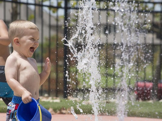 Child Surpised by Water