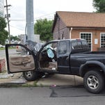 Two people were taken to hospitals for treatment after a crash Tuesday afternoon at W Main Street and N 11th Street in Newark. The injuries did not appear to be life threatening at the scene, NFD Capt. Doug Vermaaten said.
