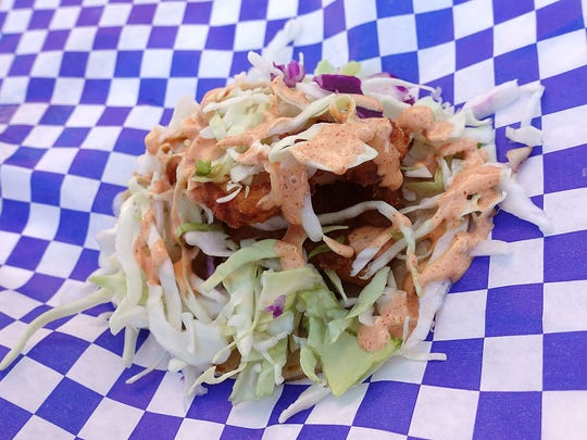 Fish taco from Baja Lobster at the Arizona State Fair.
