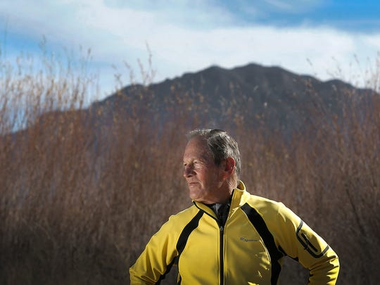 Avid marathoner Bill Barry, who has competed in 100