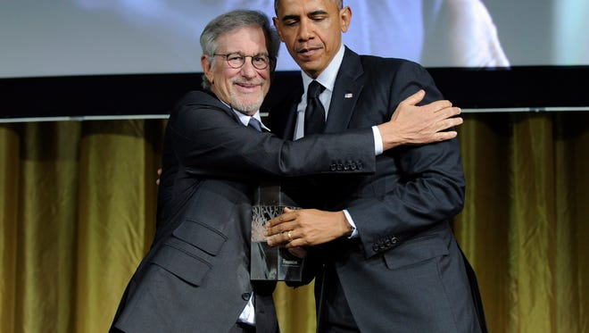 President Obama and Steven Spielberg.