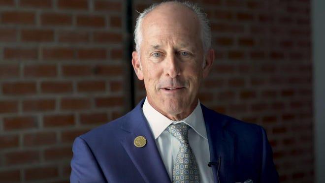 Mayor Dan Pope during one of his weekly videos.