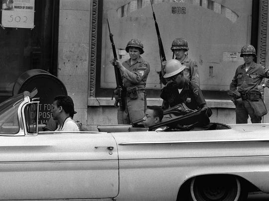 Downtown Newark on July 15, 1967. It was the first major city to explode in violence. In the following weeks, violent upheavals took place in Plainfield, Minneapolis, Detroit and Milwaukee — to name just a few of the more than 100 American cities that experienced racial violence that summer.