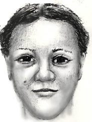 A Washington police sketch of the woman sought in the