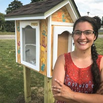 Putnam: Her idea is to stock a free 'little library' with tampons, pads instead of books