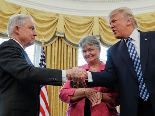 Image result for photos of trump w jeff sessions