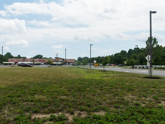 The proposed Vineland Planet Fitness would be built in the wooded area to the right of ShopRite.