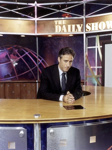 "Jon Stewart made his debut as host of ""The Daily Show"""