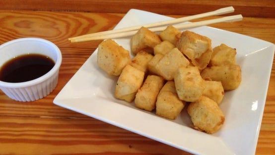 Fugu Tei fried tofu with tempura.