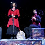 """Greenville Little Theatre's """"Mary Poppins"""" features Emily Grove (Mary) and Samuel Floyd (Bert)."""