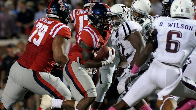 The Ole Miss running game, led by senior Jaylen Walton, shined in Saturday's 23-3 win against Texas A&M.