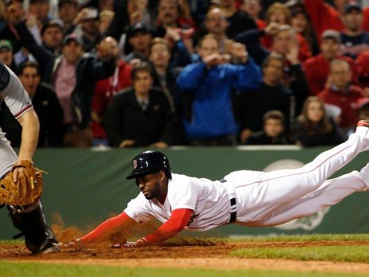 APTOPIX Braves Red Sox Baseball