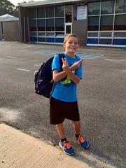 Gabe Forbes at Lindeneau Elementary School in Edison.