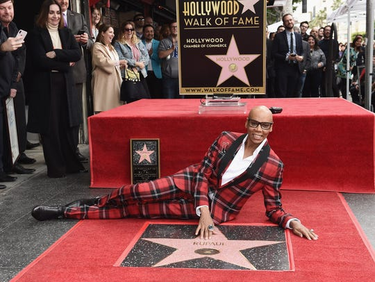 RuPaul is honored with a star on The Hollywood Walk