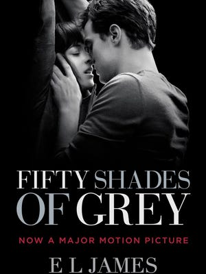 The movie tie-in jacket of 'Fifty Shades of Grey.'