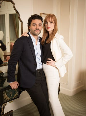 Oscar Isaac and Jessica Chastain, friends since their college days.