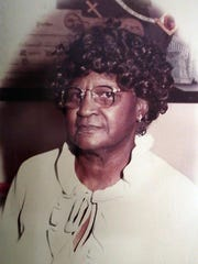 A photo of Jeralean Talley, 115, shows the newly anointed
