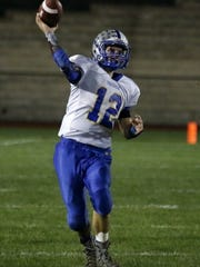 Northern Lebanon's Isaac Wengert throws downfield in