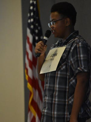 John Terry, an eighth grader, from Desert Springs Middle School won second place in the Riverside County Spelling Bee.